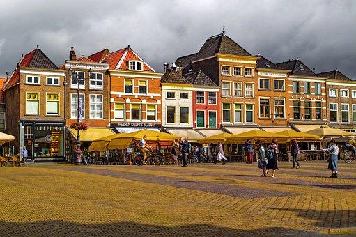 Place, City, Cityscape, Town, House, Building, Brick