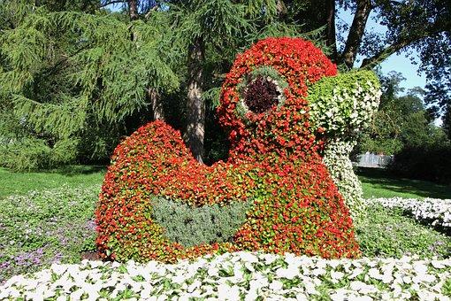 Duck, Figure, Flowers, Colorful, Cute, Deco, Decoration