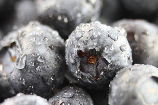 Blueberries, Closeup, Fresh, Food, Vegetarian, Organic