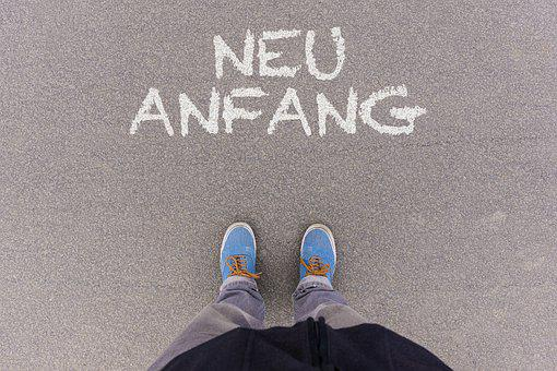 New, Start, Fresh, German, Words, Text, Letters