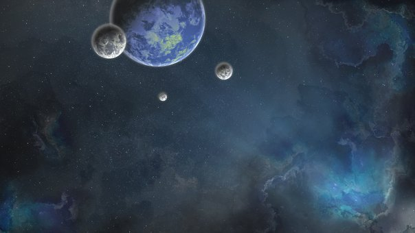 Space, Weltall, Planet, Blue, Milky, Way, Sterne