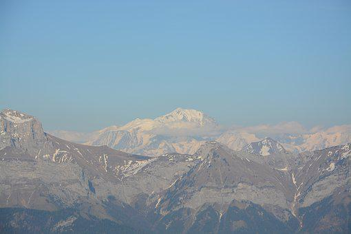 Mountain, The Chain, Mont Blanc, Summit, Landscape