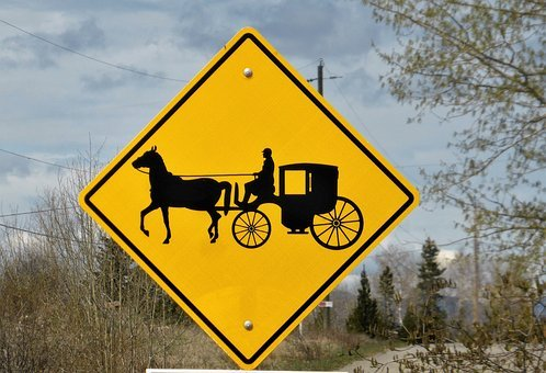 Road Sign, Coach, Horse And Carriage, Antique