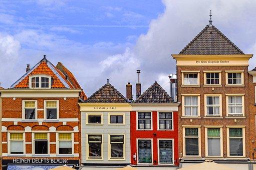 Dity, Facade, Cityscape, Town, House, Building, Brick