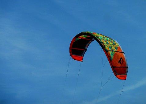 Fly, Glide, Kite, Kiting, Kite Surfing, Sea, Beach