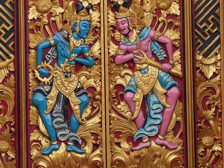 Indonesia, Bali, Java, Temple, Door, Hindu