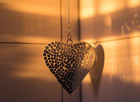 Heart, Klitzer, Deco, Decoration, Jewellery, Light