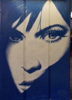 Subway, Art, Underpass, Street, Graffiti, Lady, Woman