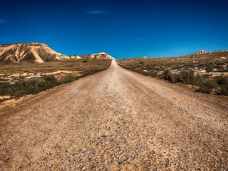 Road, The End, Principle, Desert, Route 66, Perspective