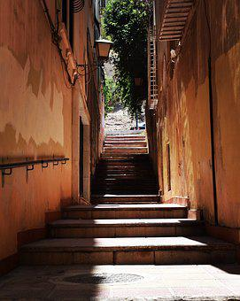 Alley, Stairs, Spanish, Town, Old