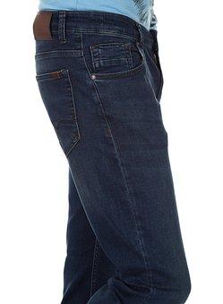 Pants, Macro, Style, Detail, Jeans, Blue, Textile, Yarn