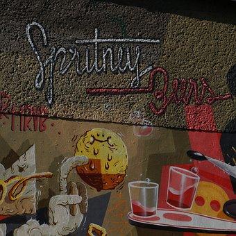 Graffiti, Berlin, Urban Art, Art, Street Art, Wall