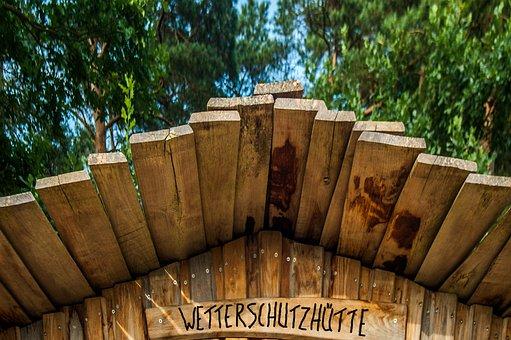 Hut, Bohlen, Roof, Step, Wood, Boards