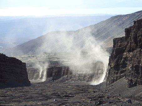 Volcano, The Foot, Canyon, Wind, Dust, Storm, Sand