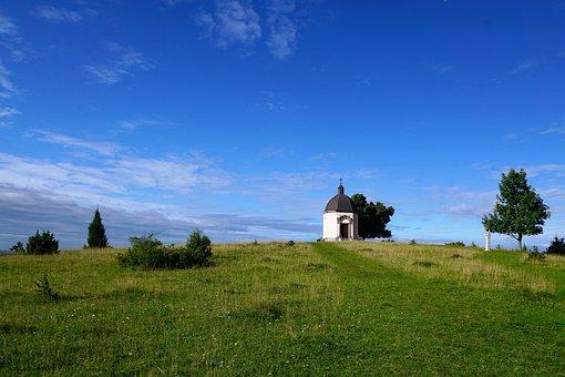 Chapel, Böttingen, Summer, Nature, Blue, Spring, Field