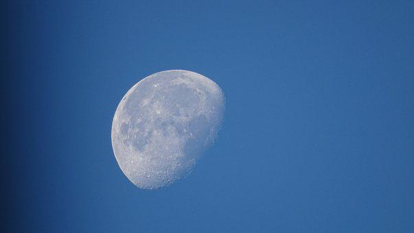 Moon, Full Moon, Night, Space, Nature, Clear Sky