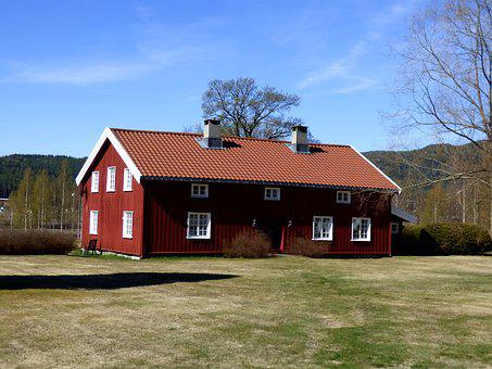 Farm, Countryside, Rural, House, Country, Grass, Norway