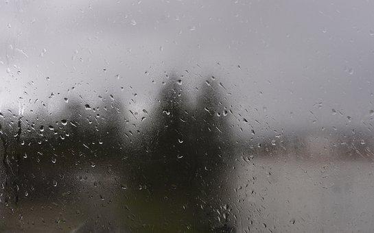Drops, Rain, Window, Droplet, Landscape
