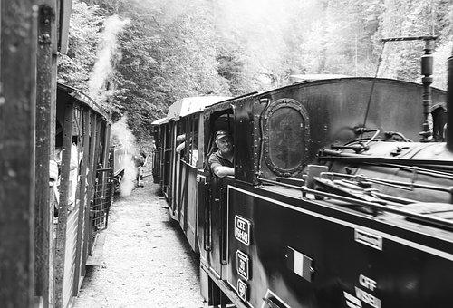 Train, Romania, Railway, Steam, Engine, Wood, Travel