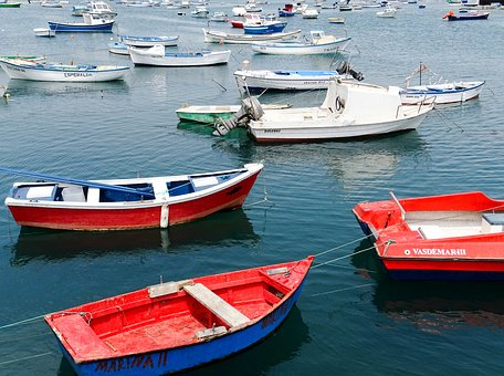Boat, Port, Spring, Blue, Fishing Boat