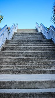 Stairs, Steps, Sky, Growth, Business, Climbing