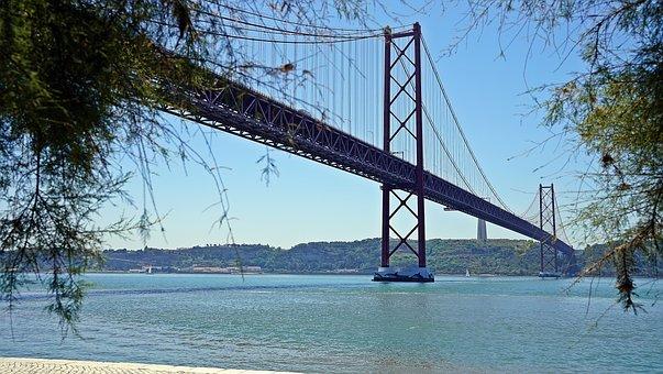 Bridge, Steel, Structure, Metal, River, Cityscape