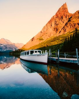 Boat, Tours, Mountains, Lake, River, Water, Reflections