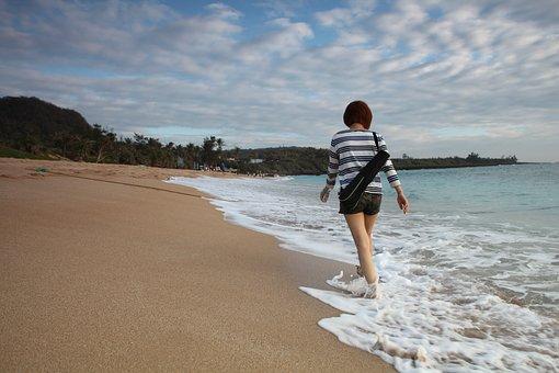 Girl, Ocean, Summer, Beach, Vacation, Female, Travel