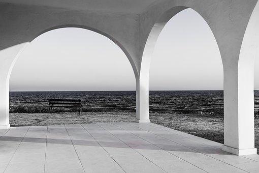 Arch, Church, Architecture, Sea, Light, Horizon