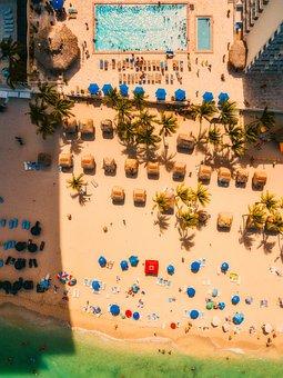Beach, Sand, Sea, Ocean, Seashore, Aerial View
