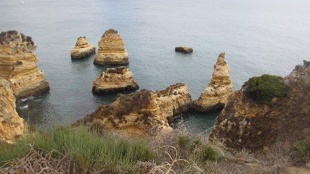 Portugal, Algarve, Lagos, Rock, Nature, Coast
