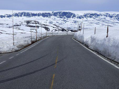 Road, Snow, Landscape, Winter, Cold, Ice, Mountain
