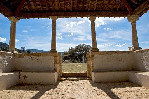 Patio, Church, Cruz, Spain, Tourism, Monastery