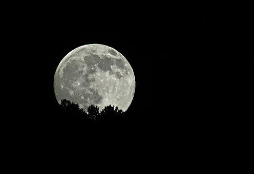 Month, Fullmoon, Night, Dark, Twilight, Moon, Sky