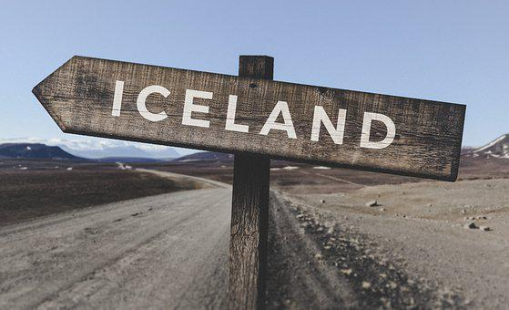 Mountains, Iceland, Wooden, Signs, Landscapes, Outdoors