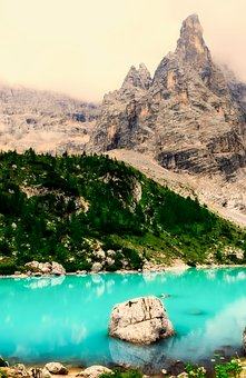 Italy, Lake, Mountains, Landscape, Forest, Trees, Woods