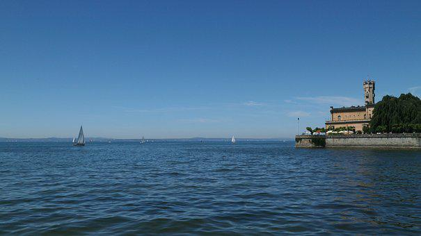 Lake Constance, Germany, Castle, Lake, Water, Boats