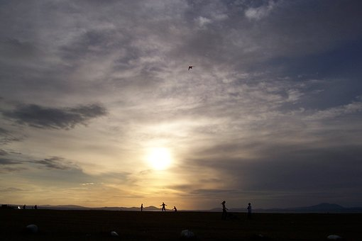 Sunset, North Wales, Sky, Clouds, Landscape, North
