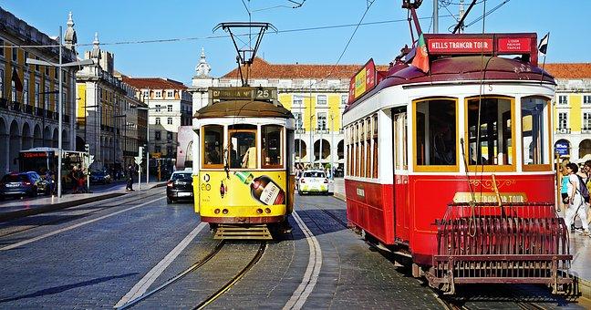 Tram, Lisbon, Portugal, Travel, Tramway, Cityscape