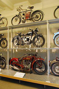 Old Motorcycles, Vienna Technical Museum, Indian, Puch