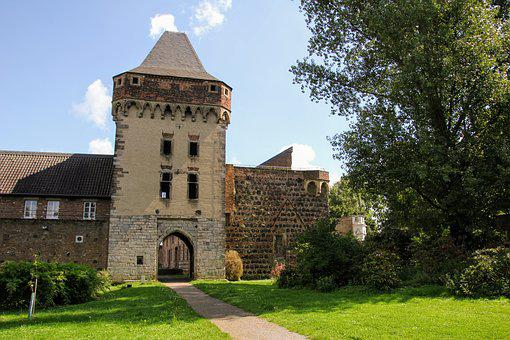 Castle, Wall, Old, Fortress, Germany, Castle Wall, Zons