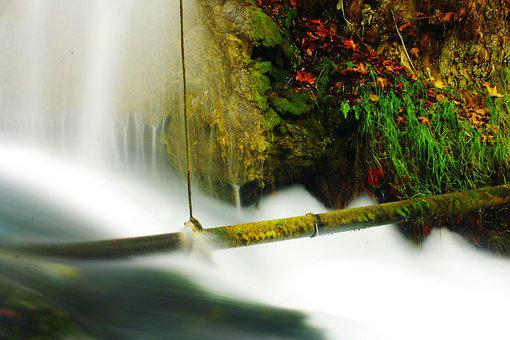 Waterfall, Water, River, Nature, Landscape, Green