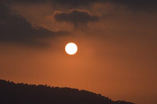 Sunset, Hill View, Hill, Mountain, Sun, Travel, Evening