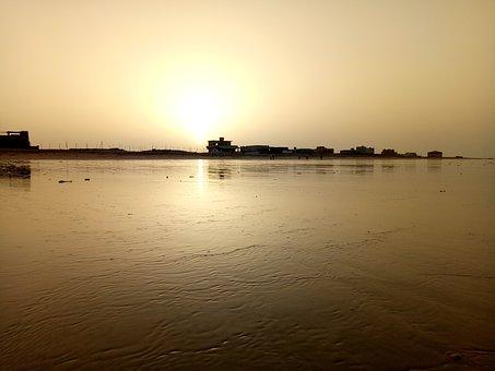 Beach, Karachi, Sunlight, Sunshine, Coastline, Sunrise