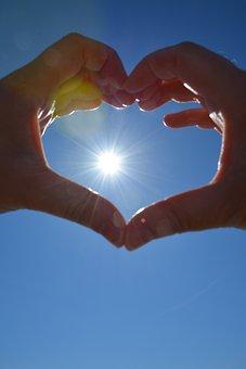 Heart, Hands, Solar, Love, Form, Symbol, Romantic, Hope