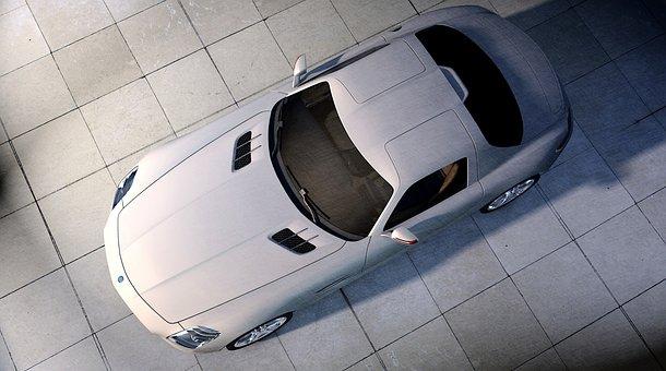 Sports Car, Auto, Racing Car, Metallic, Sun Reflections