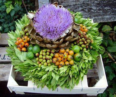 Autumn Wreath, Autumn Mood, Bouquets, Decorative