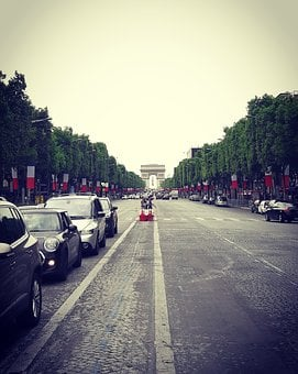 Triumphal Arch, Paris, Champs Elysees, Avenue, 14 July