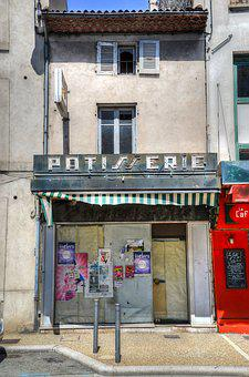 Bakery, French, Out Of Business, Food, Pastry, Bread