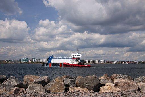 Tug-boat, Towing, Towage, Ocean, Bay, Sea, Maritime